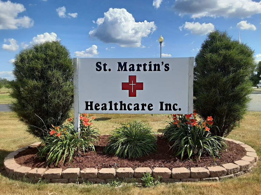 Picture of the St. Martin's sign.
